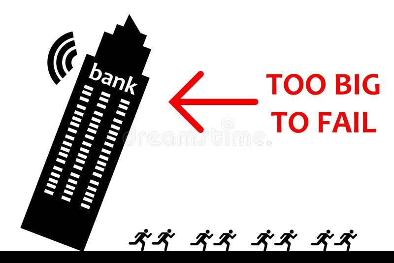 Bancarrota ilustração royalty free