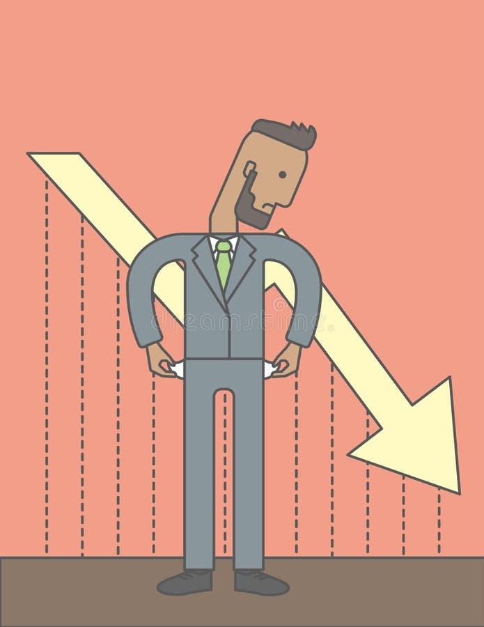 Bancarrota ilustración del vector