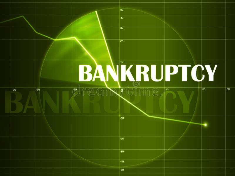 Bancarrota stock de ilustración