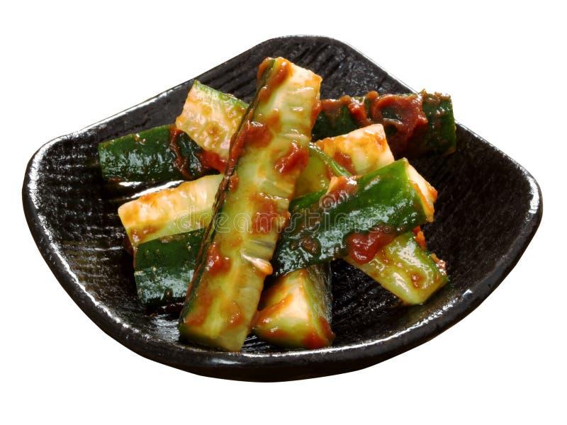 banchan韩国的黄瓜 免版税库存图片