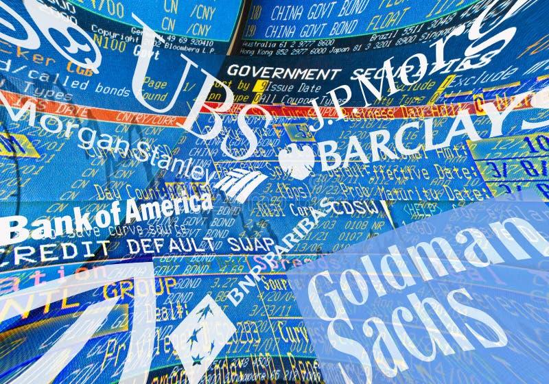 Banche globali fotografia stock libera da diritti