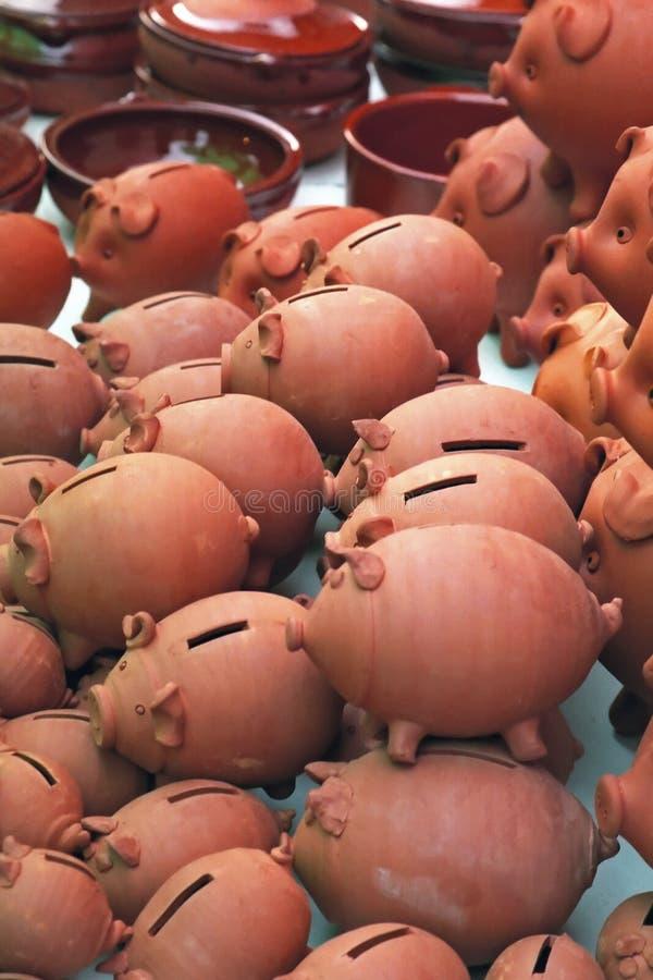 Banche Piggy immagine stock libera da diritti