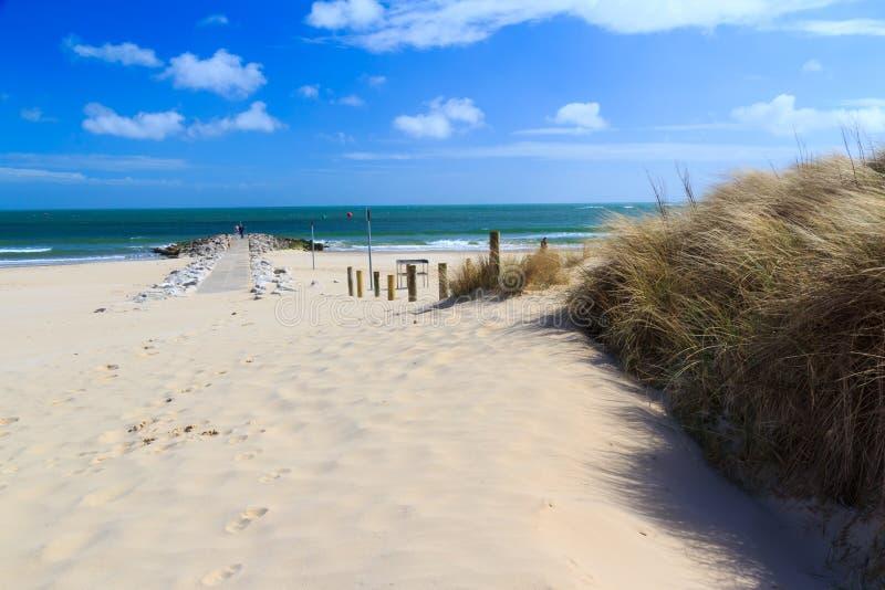 Banchi di sabbia Dorset fotografia stock