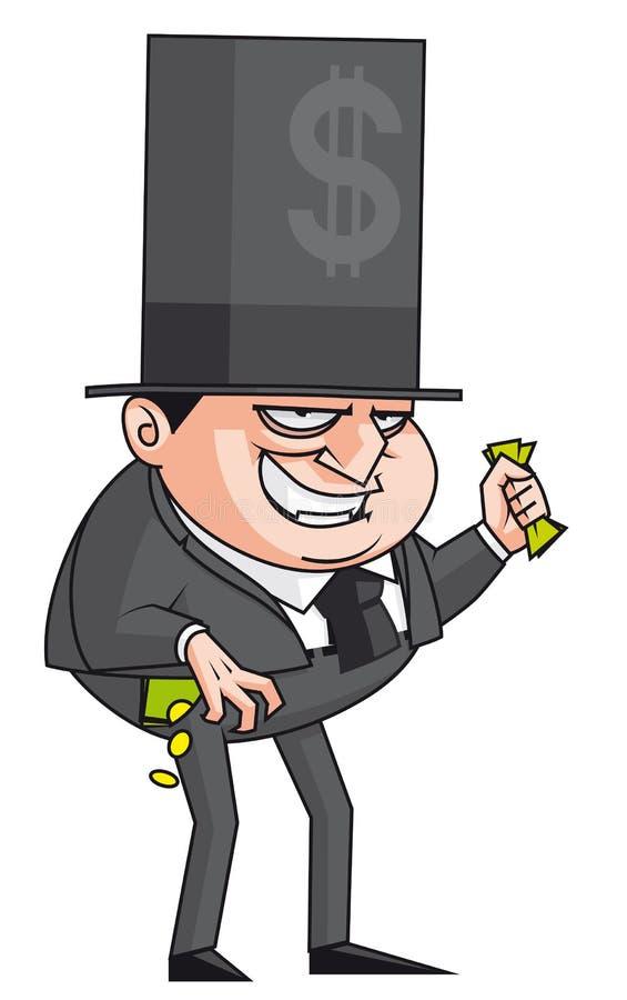 Banchiere diabolico royalty illustrazione gratis