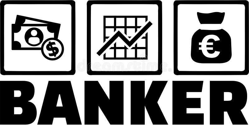 Banchiere Money illustrazione vettoriale