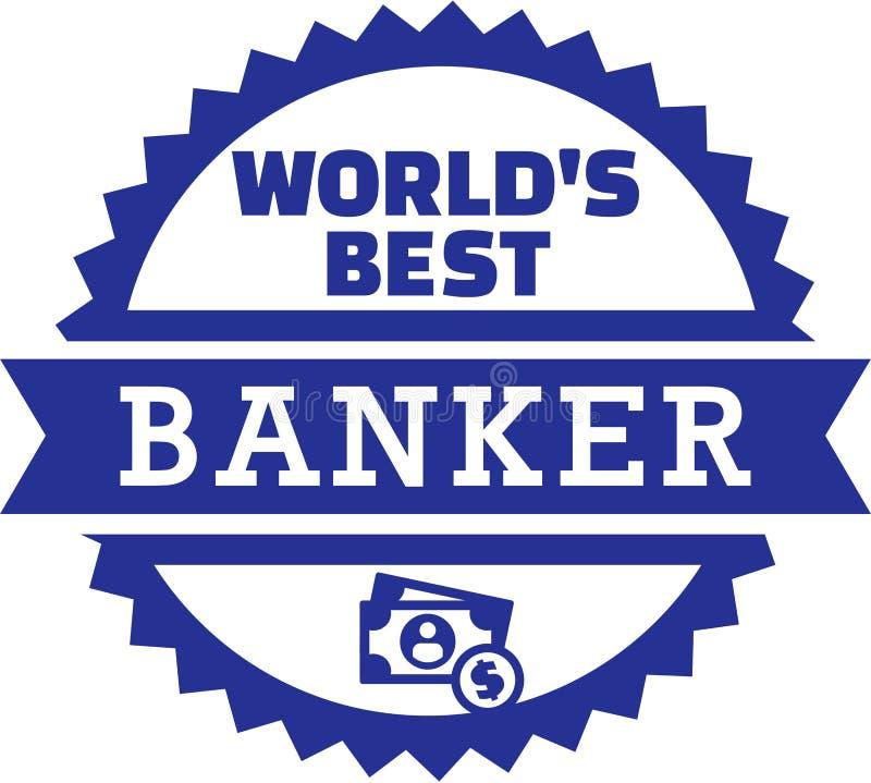 Banchiere Money del ` s del mondo migliore illustrazione di stock