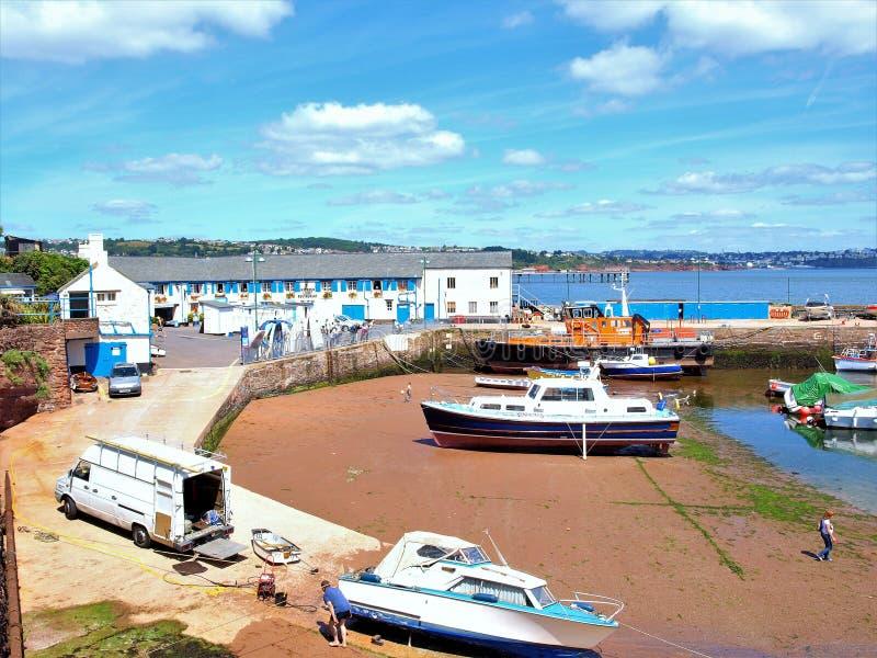 Banchina del porto, Paignton, Devon fotografie stock