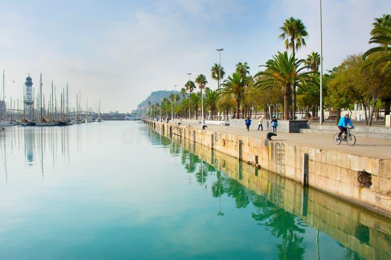 Banchina di Barcellona, Spagna fotografia stock