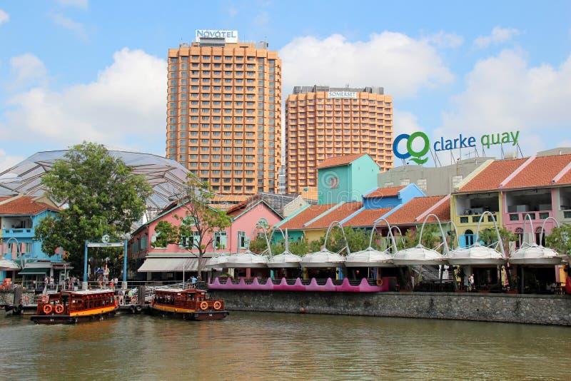 Banchina di Clarke - Singapore fotografie stock