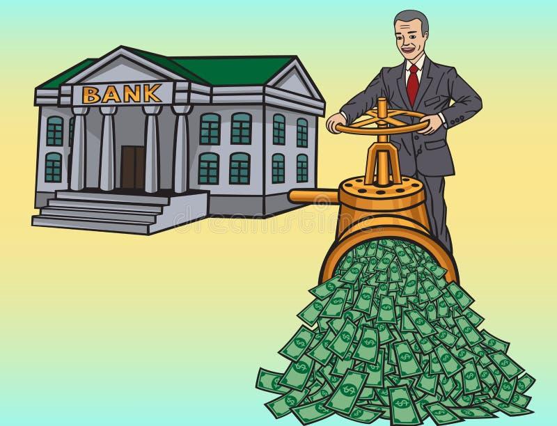 Banco ilustração royalty free