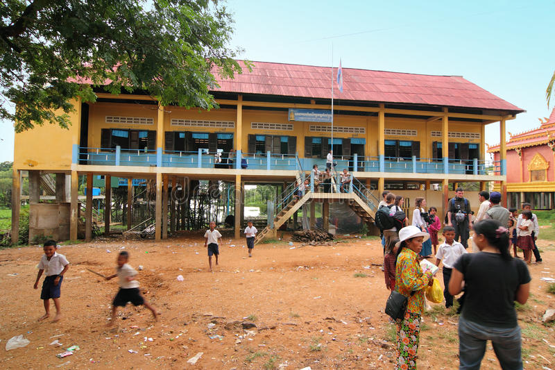 Banco alla Cambogia immagine stock