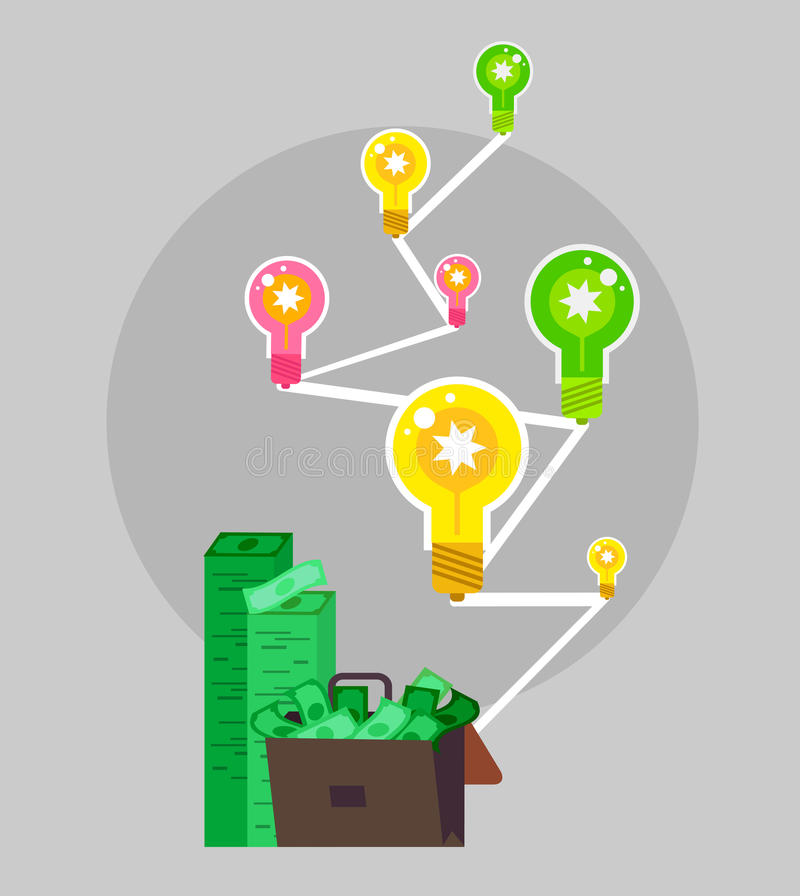 Banco, beneficio del dinero e inversión libre illustration