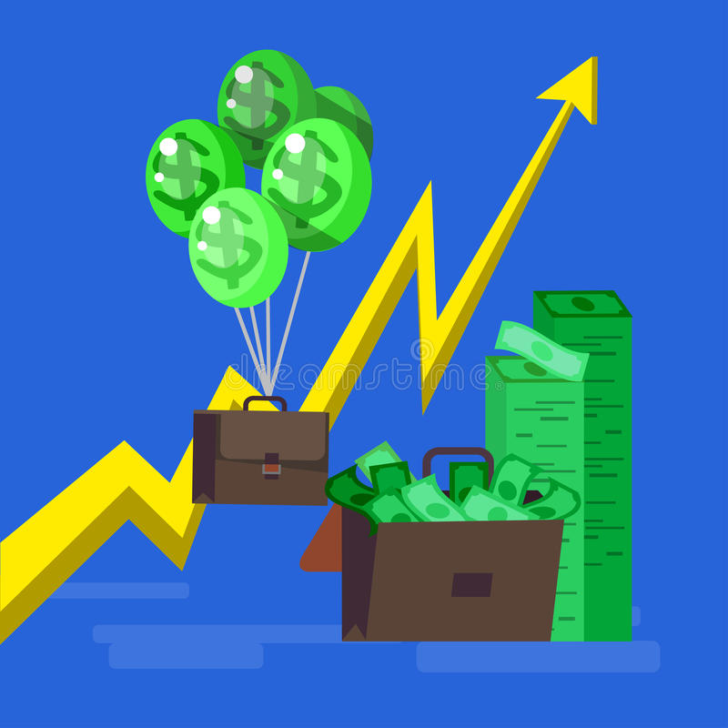 Banco, beneficio del dinero e inversión ilustración del vector