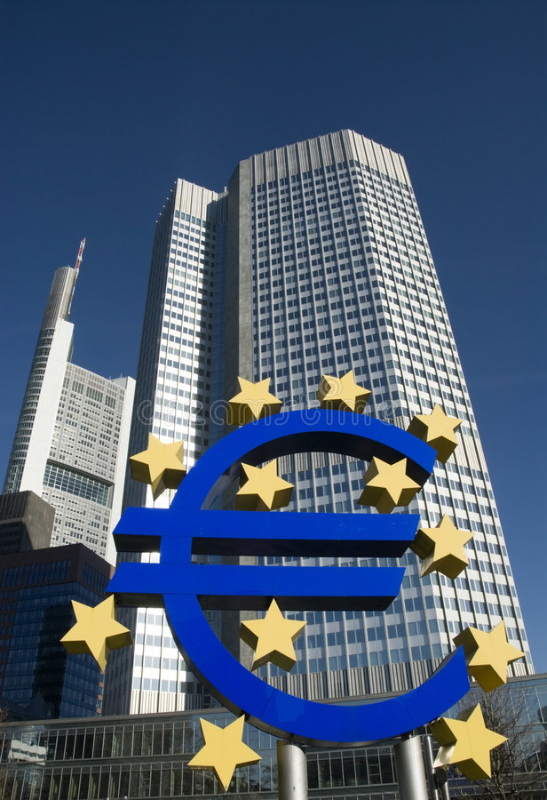 Banco Central Europeo fotografía de archivo libre de regalías