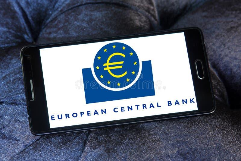 Banco Central Europeu, logotipo do BCE foto de stock