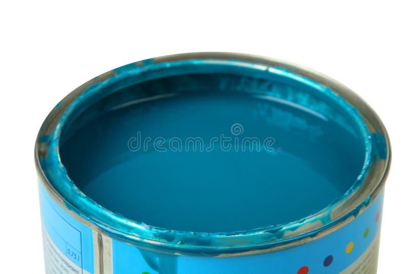 Banco con la pintura azul foto de archivo