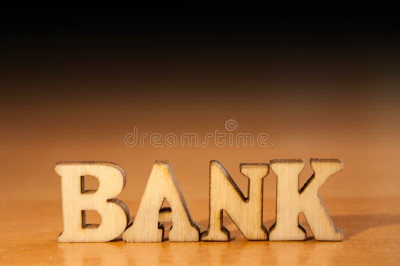 Banco da palavra fotografia de stock