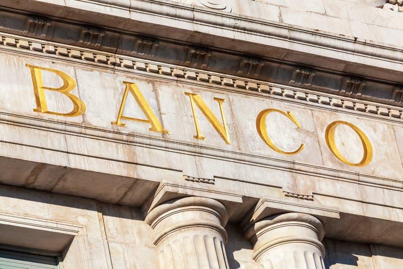 Banco da palavra no espanhol foto de stock royalty free
