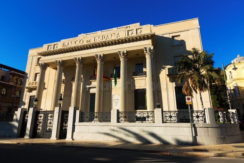 Banco de西班牙在马拉加 西班牙 图库摄影