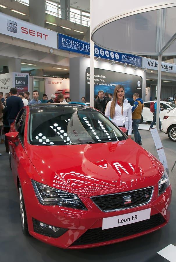 Banco de carro Leon franco imagem de stock royalty free