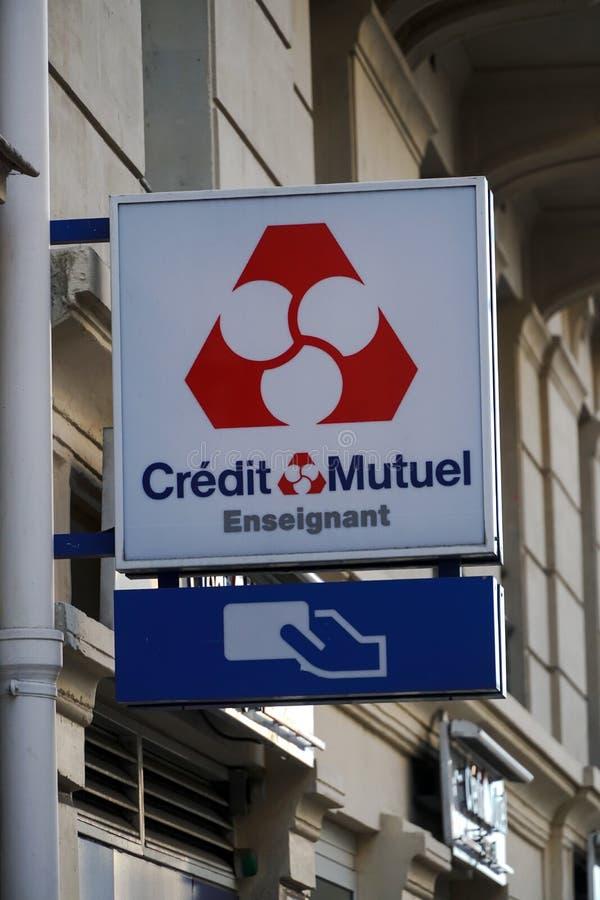 Banco de Crédit Mutuel fotografía de archivo libre de regalías