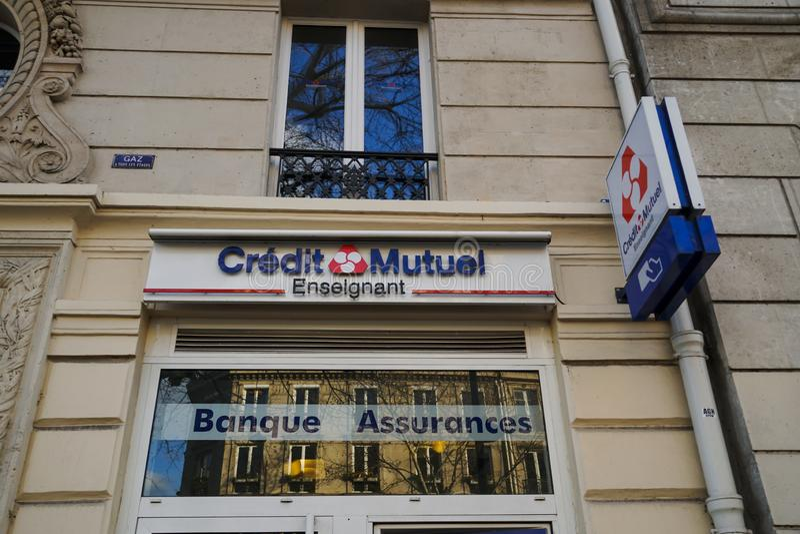 Banco de Crédit Mutuel foto de archivo libre de regalías