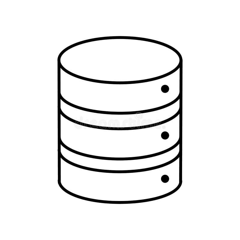Banco de dados, ?cone do armazenamento do servidor Ilustra??o lisa moderna, simples do vetor para a site ou app m?vel ilustração do vetor