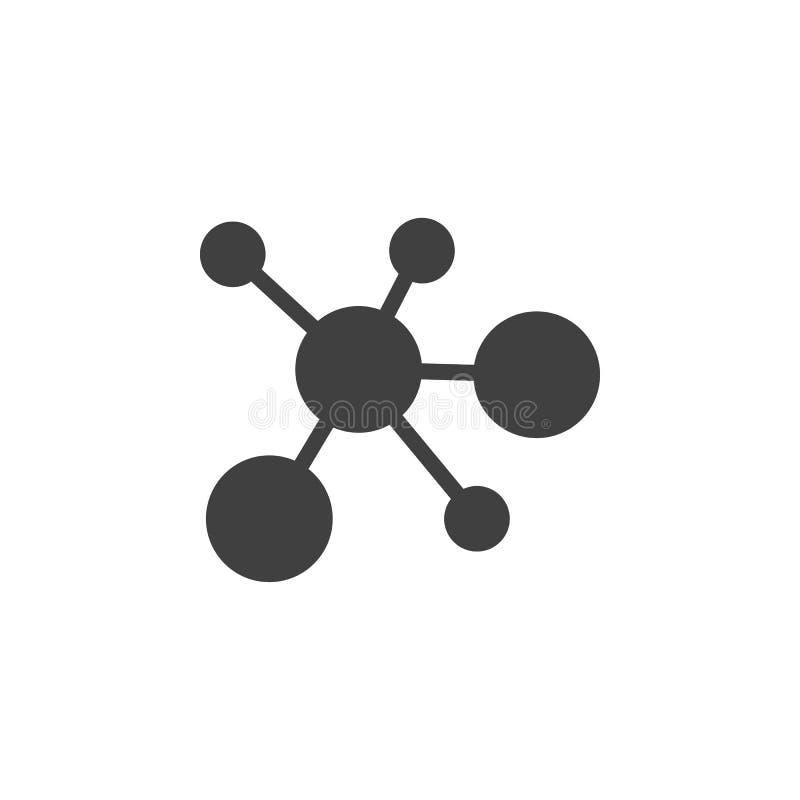 Banco de dados, servidor, ícone do vetor da relação Elemento dos dados para a ilustra??o m?vel dos apps do conceito e da Web Linh ilustração stock