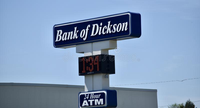 Banco de Dickson Road Sign, Dickson, TN fotos de stock