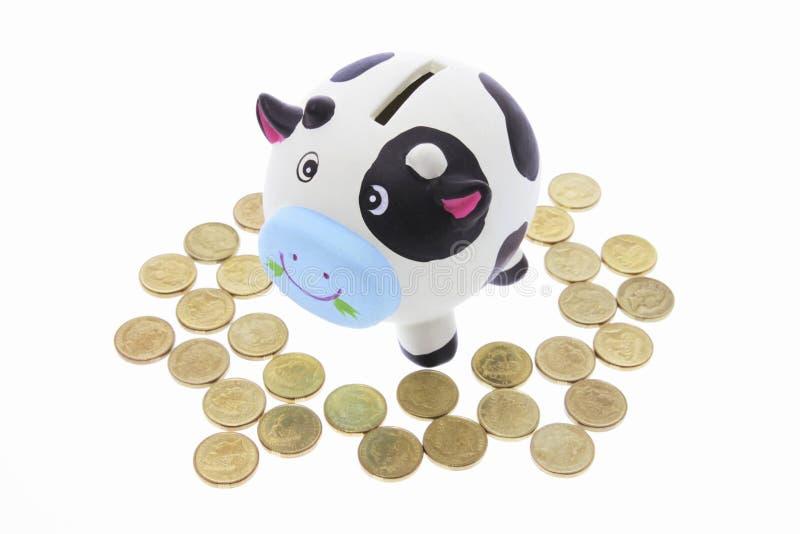 Banco de economia da vaca fotos de stock royalty free