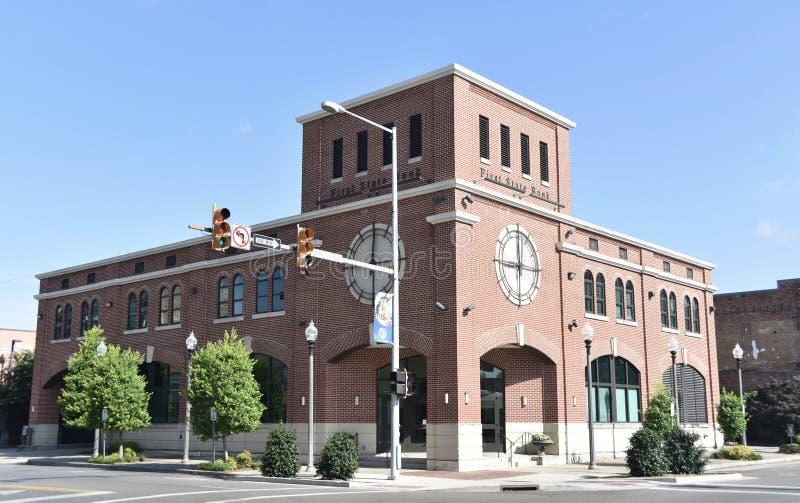 Banco de First State, meridiano, Mississippi fotografia de stock