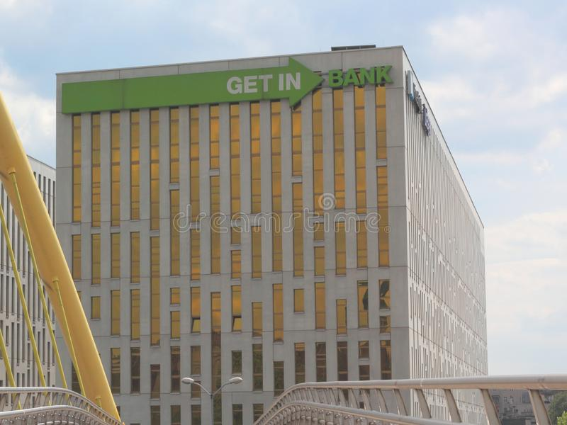 Banco de Getin, Katowice imagen de archivo