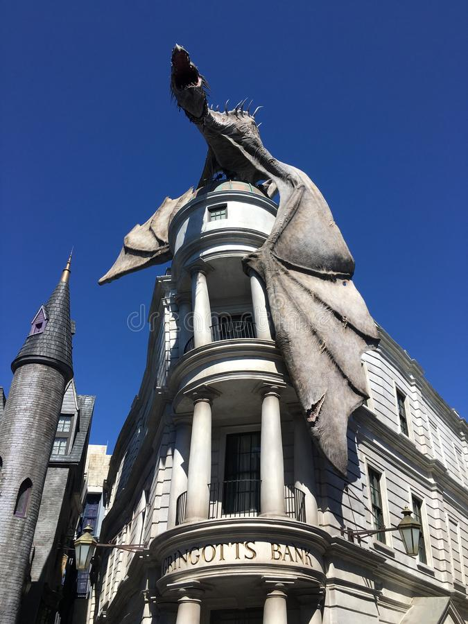 Banco de Gringotts de Harry Potter foto de archivo