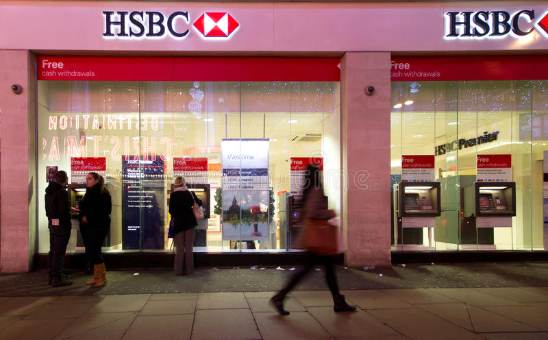 Banco de HSBC imagem de stock royalty free