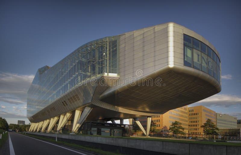 Banco de ING en Amsterdam foto de archivo libre de regalías
