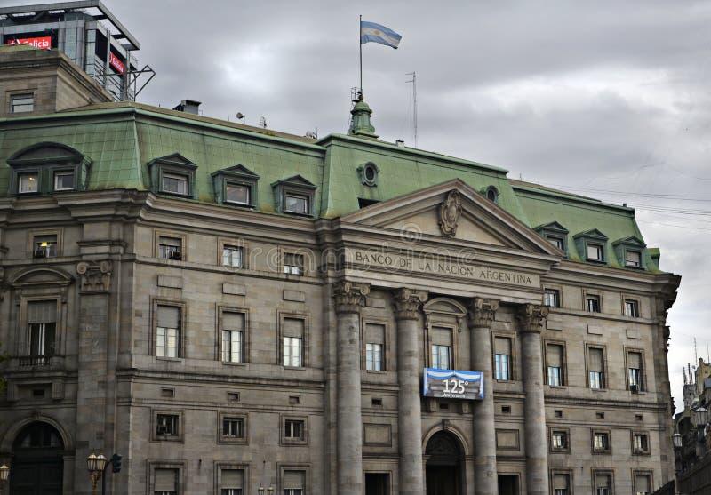 Banco de la nación de Argentina foto de archivo libre de regalías
