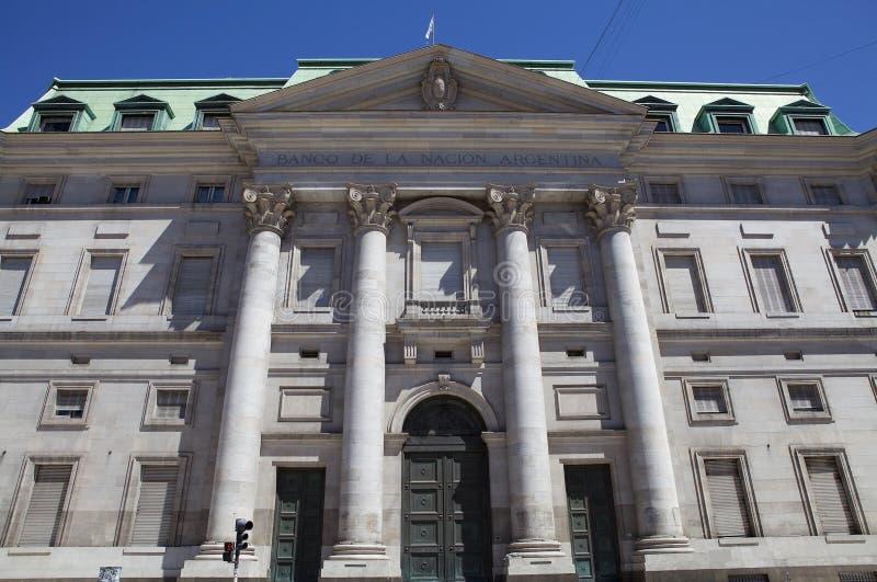 Banco de la nación de Argentina, Buemos Aires, la Argentina fotos de archivo libres de regalías