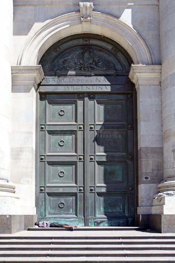 Banco de la nación de Argentina, Buemos Aires, la Argentina imagen de archivo libre de regalías