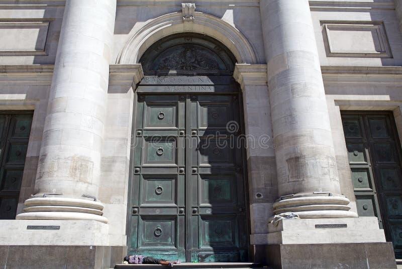 Banco de la nación de Argentina, Buemos Aires, la Argentina fotografía de archivo libre de regalías
