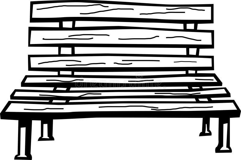 Banco de madera ilustración del vector