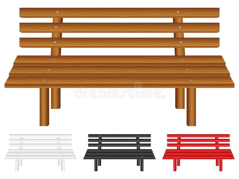 Banco de madera stock de ilustración