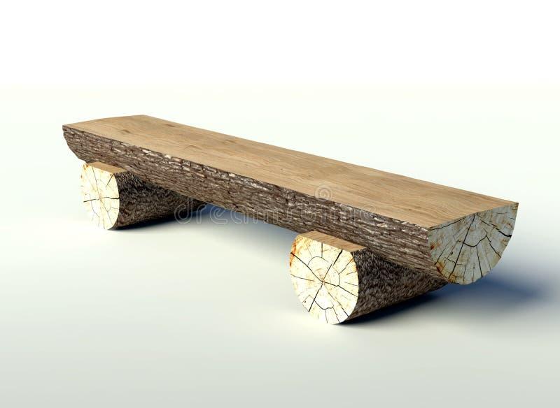 Banco de madera hecho de troncos de rbol stock de for Banco de jardin de madera