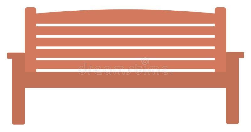 Banco de parque de madera stock de ilustración