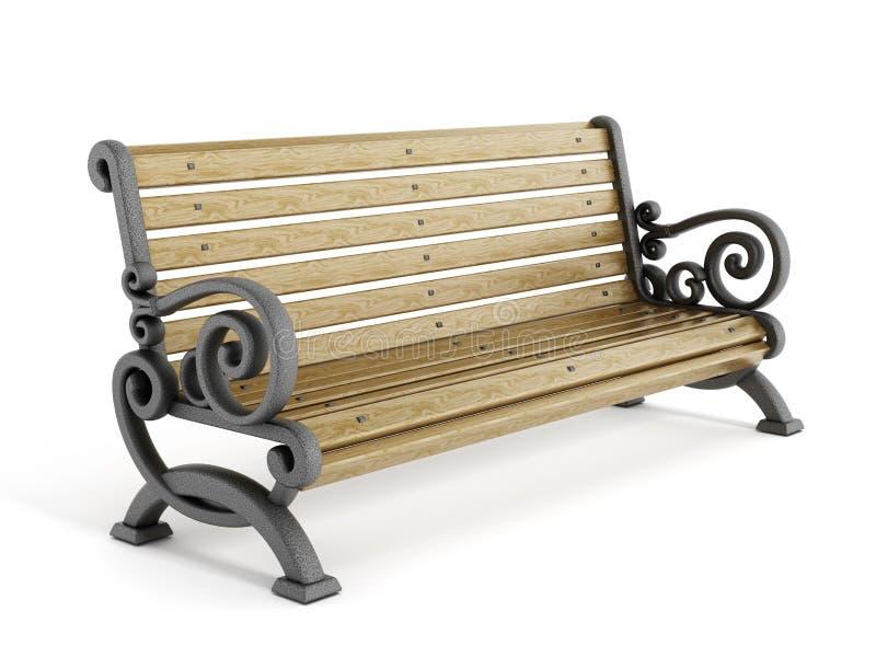 Banco de parque en otoño stock de ilustración
