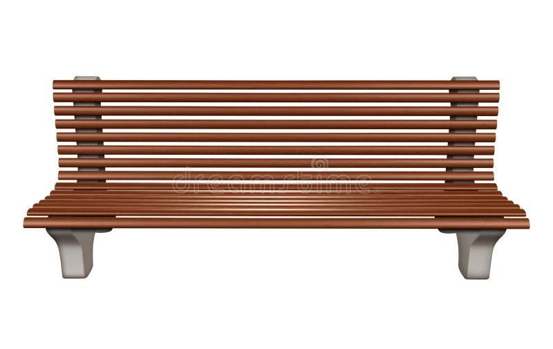 Banco de parque de madera stock de ilustración. Ilustración de ...
