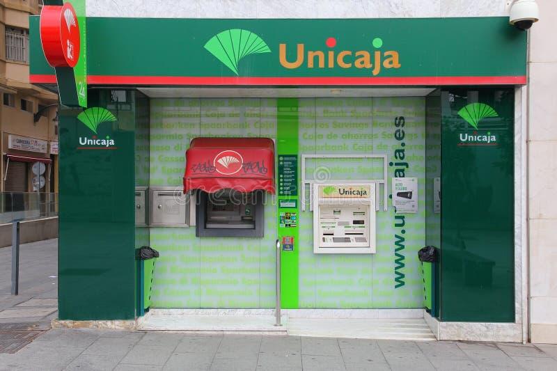 Banco de Unicaja, Espanha fotos de stock
