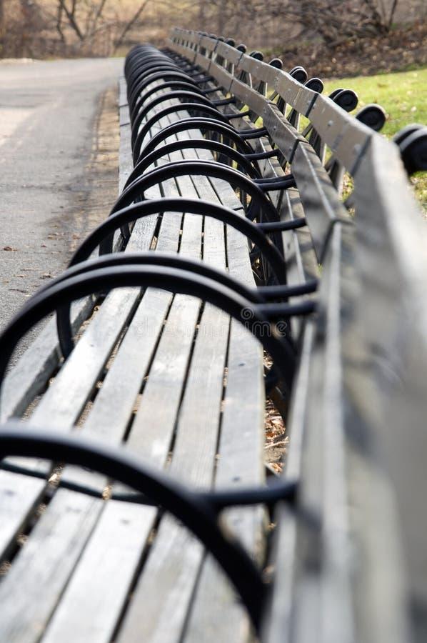 Banco del Central Park fotografia stock