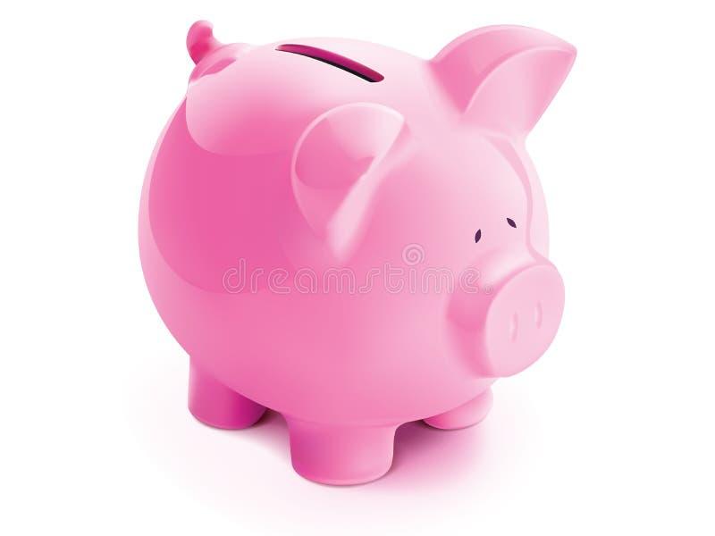 Banco del cerdo, ilustración del vector