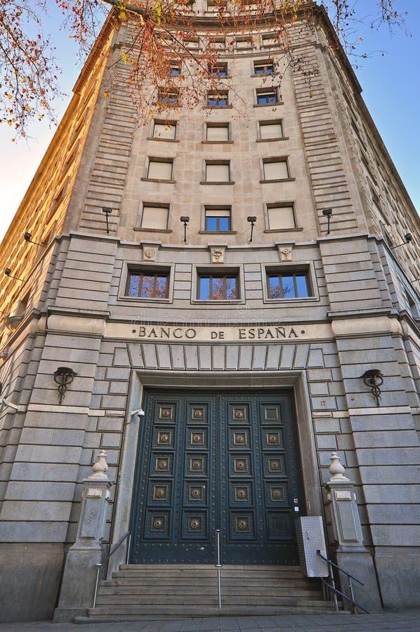 Banco del edificio de oficinas de España imagenes de archivo