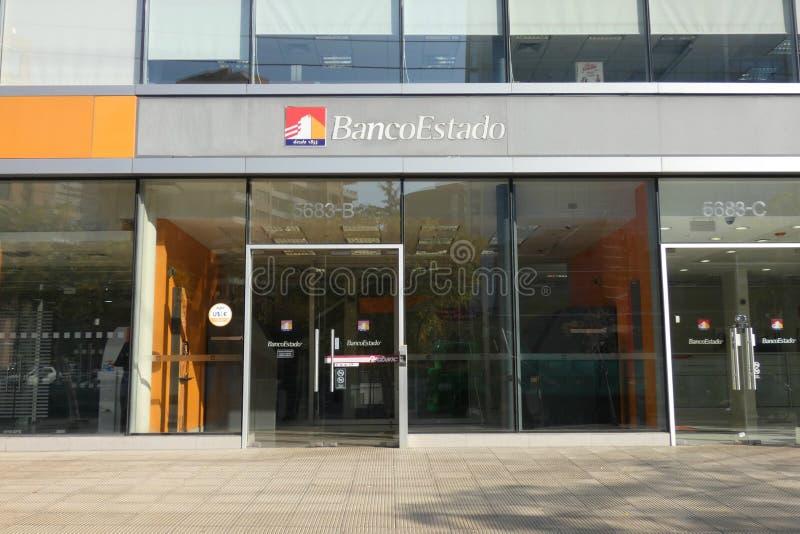 Banco del Estado de Chile. A branch of Banco del Estado in Santiago, Chile. Operating under the brand BancoEstado, Banco del Estado is the only public bank in stock photos